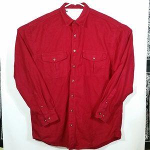 Eddie Bauer Heavy Duty Cotton Flannel L/S Shirt LT